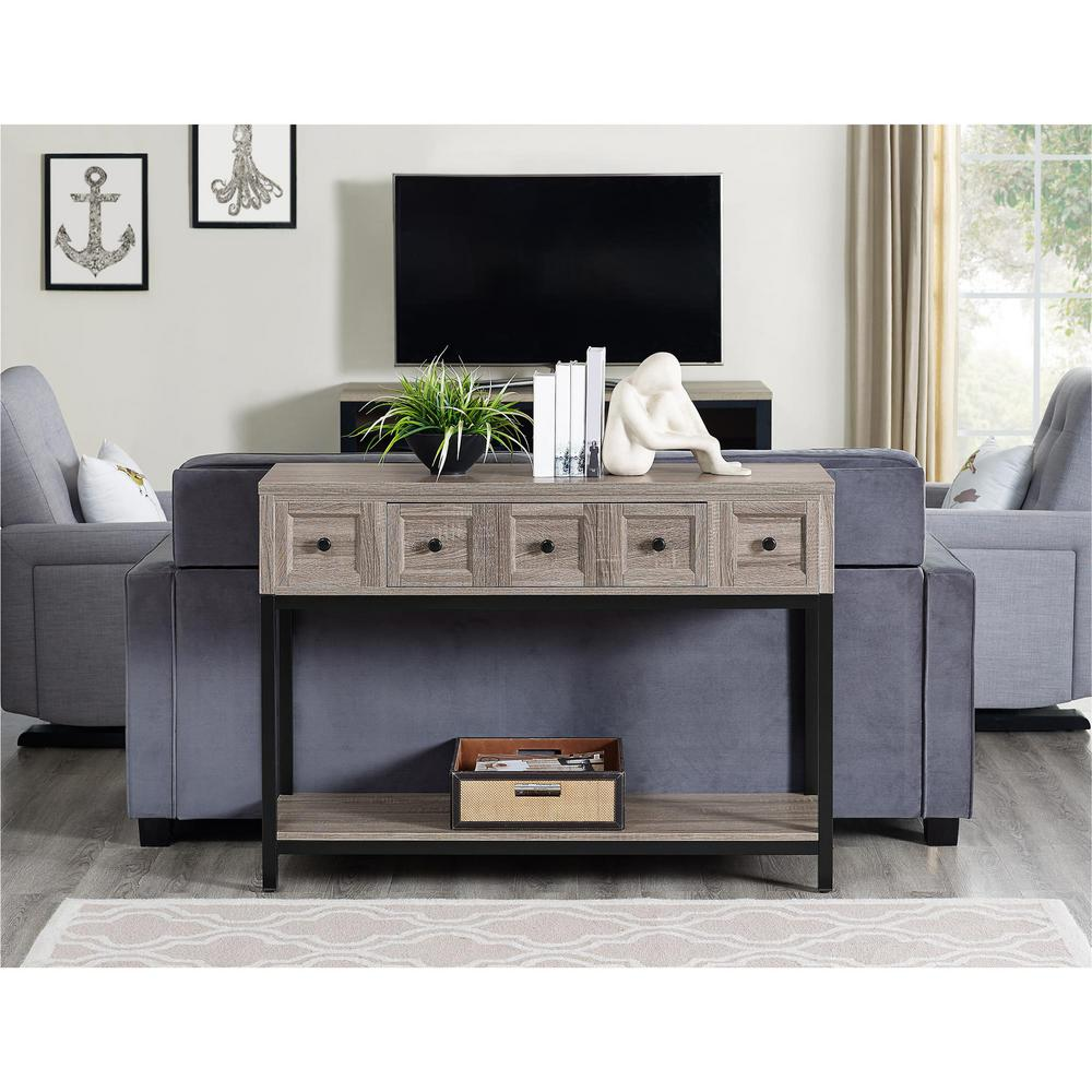 sonoma oak barrett console table 5035096com the home depot