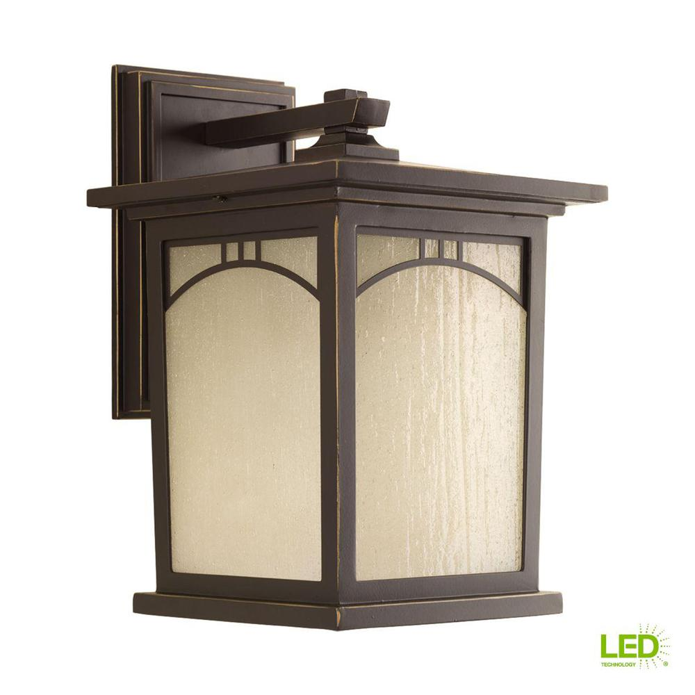 Residence collection 1 light 12 2 in outdoor antique bronze led wall lantern