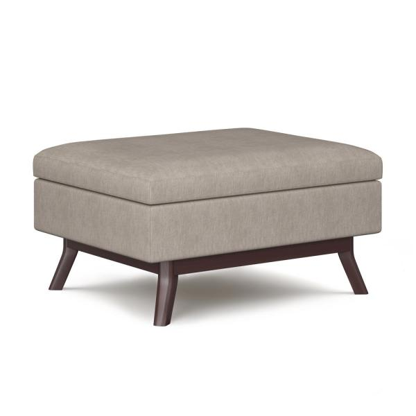 Theo Natural Coffee Table Storage Ottoman