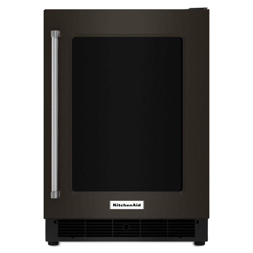 Kitchenaid 24 in w 5 1 cu ft undercounter refrigerator in black stainless kurr304ebs the - Kitchenaid mini oven ...