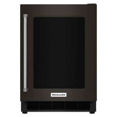 24 in. W 5.1 cu. ft. Undercounter Refrigerator in Black Stainless