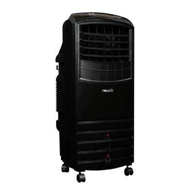 1000 CFM 3-Speed Black Portable Evaporative Cooler for 300 sq. ft.