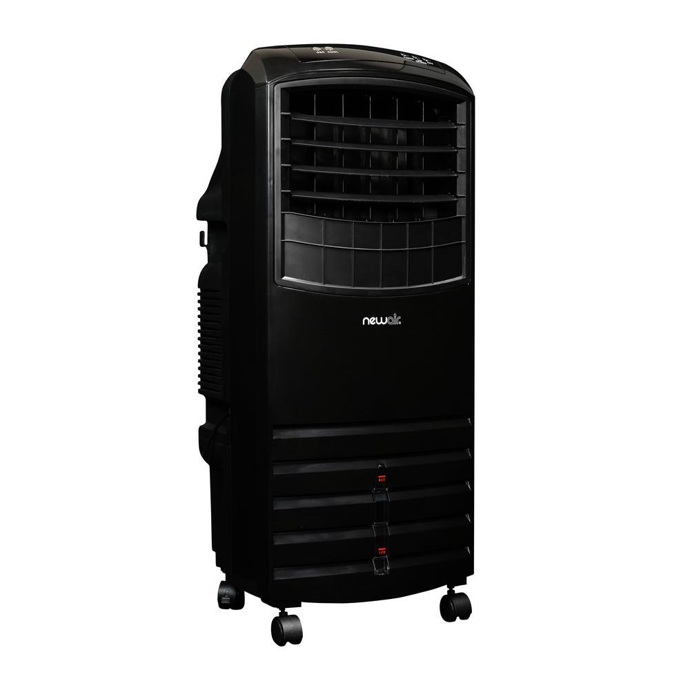 1000 CFM 3 Speed Black Portable Evaporative Cooler For 300 Sq. Ft.