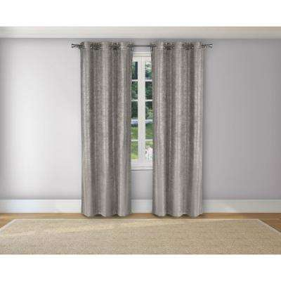 Maddyson Silver Blackout Grommet Panel Pair - 37 in. W x 106 in. L in (2-Piece)