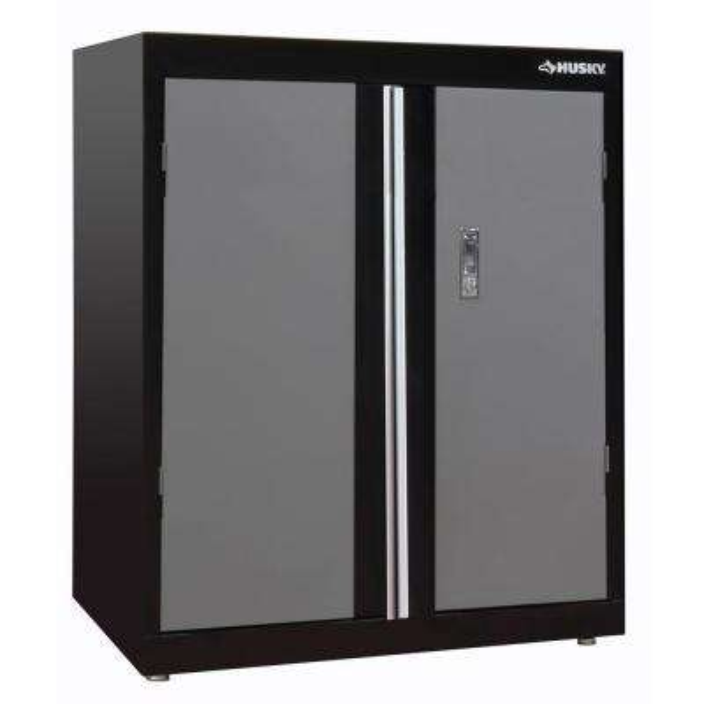 36 in. H x 30 in. W x 18 in. D Deluxe Steel Garage Base Cabinet in Black/Gray (1-Piece)