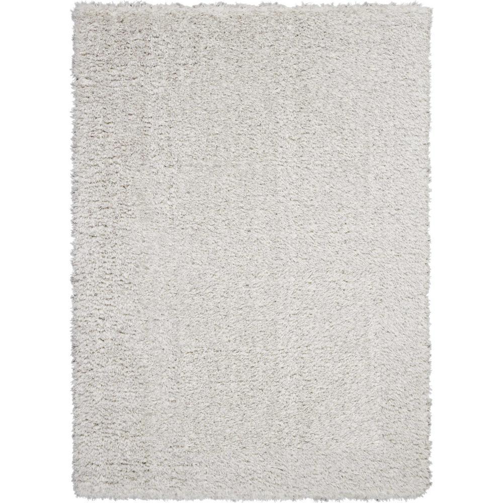 Ultra Plush Shag 4' x 6' Grey Plush Area Rug