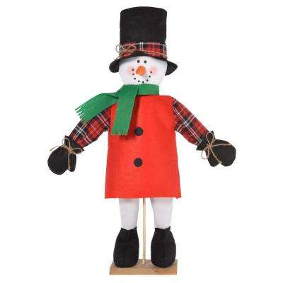 christmas friendly standing snowman decoration 2 pack