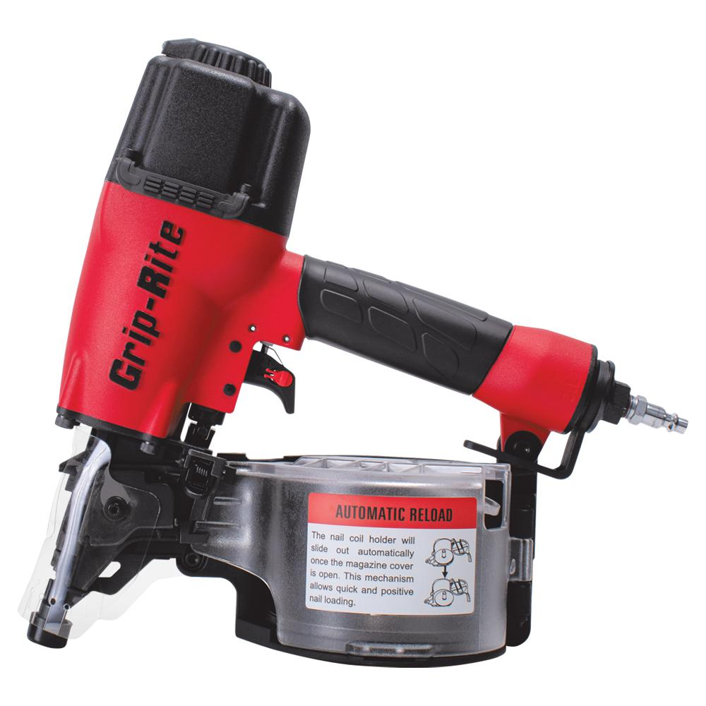 Grip Rite 2 1 2 In 15 Degree Wire And Plastic Collation Coil Siding Nailer Grtcs250 The Home Depot