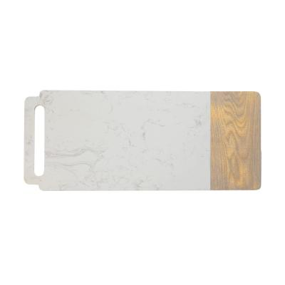 Elemental Porcelain Marble Ash Board Handle