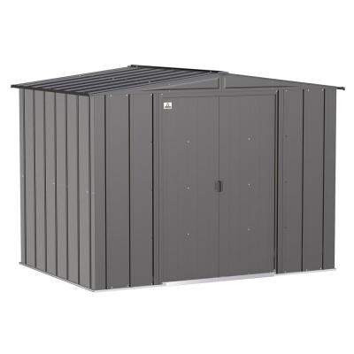 Classic 8 ft. W x 6 ft. D Charcoal Steel Storage Shed