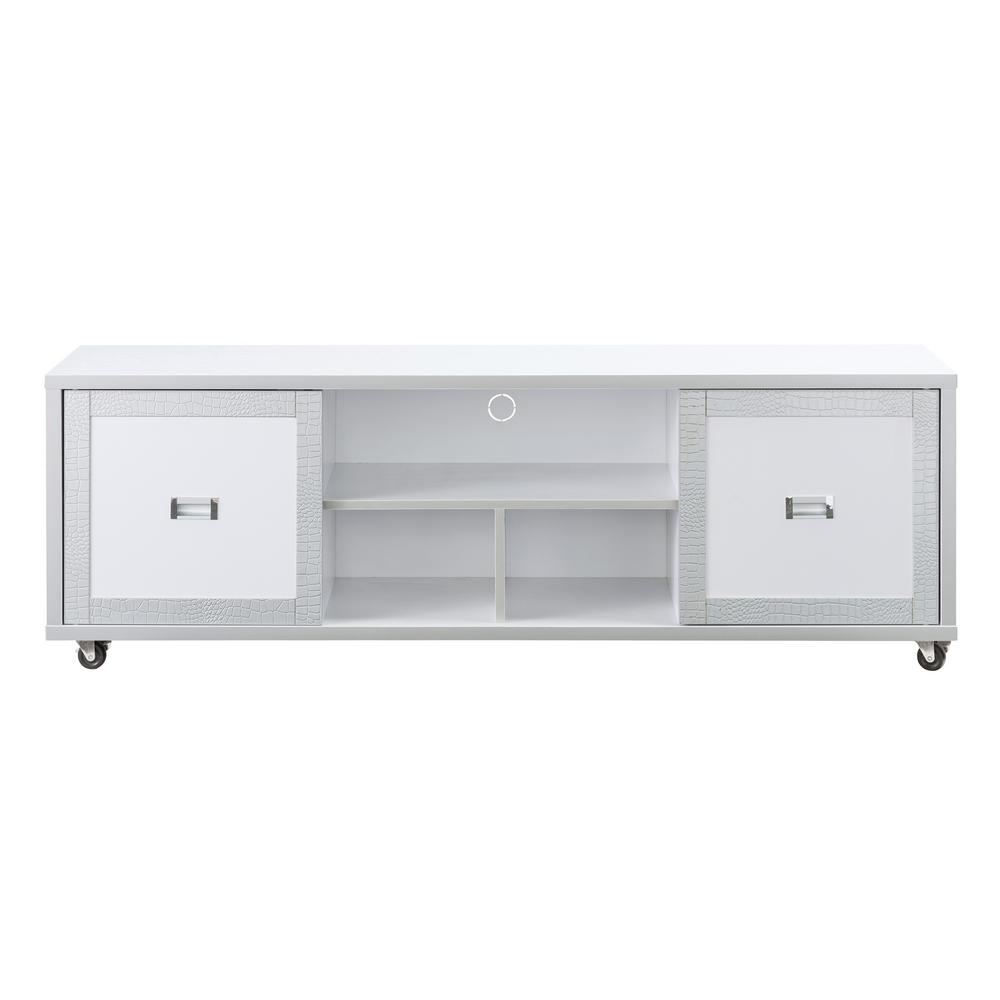 Alphonse White Two Tone 60 In Tv Stand