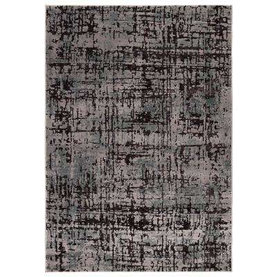 Dendera Gray/Ivory 2 ft. 3 in. x 8 ft. Abstract Runner Rug
