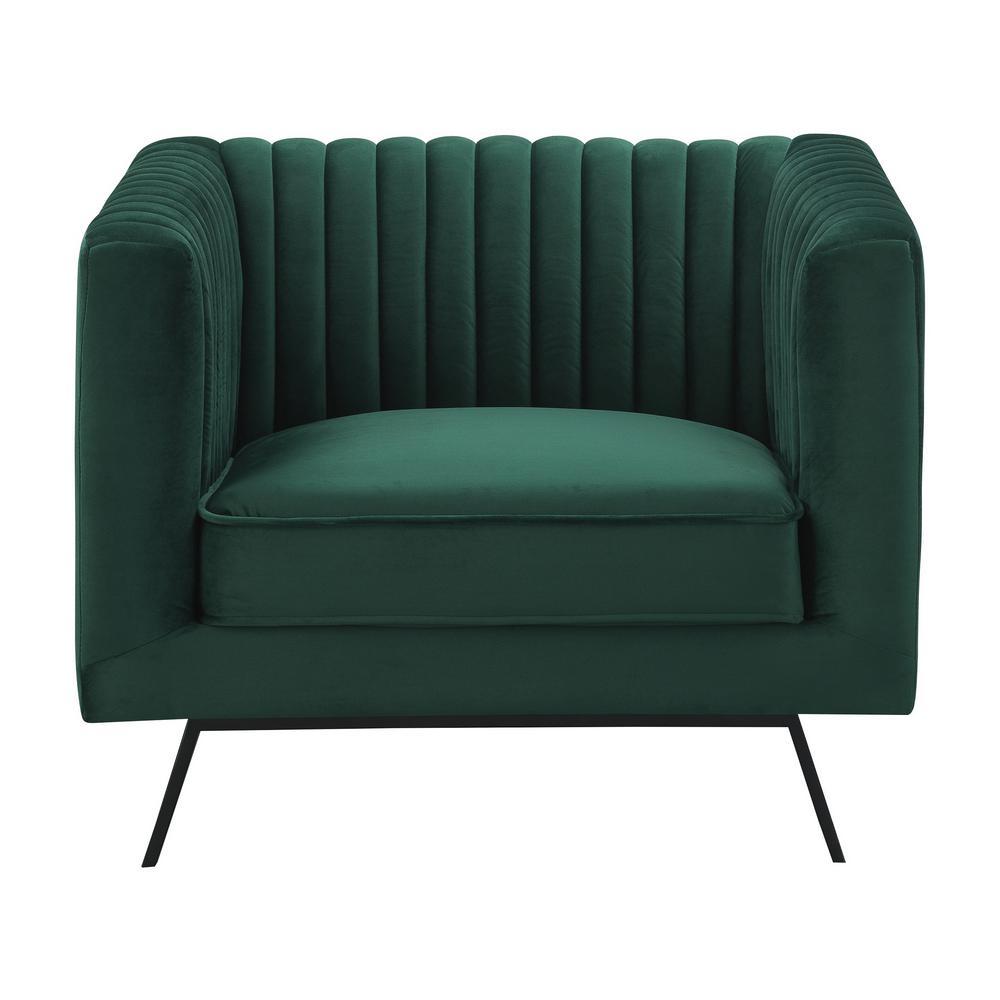 Vandam Hunter Green Velvet 1-Seat Armchair