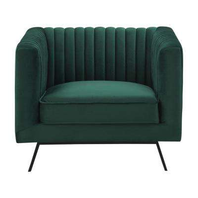 Vandam Hunter Green Velvet 1-Seat Armchair