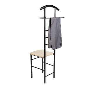 Astounding Danya B Closet Companion Black Metal Valet Chair Ha81870Bk Gmtry Best Dining Table And Chair Ideas Images Gmtryco