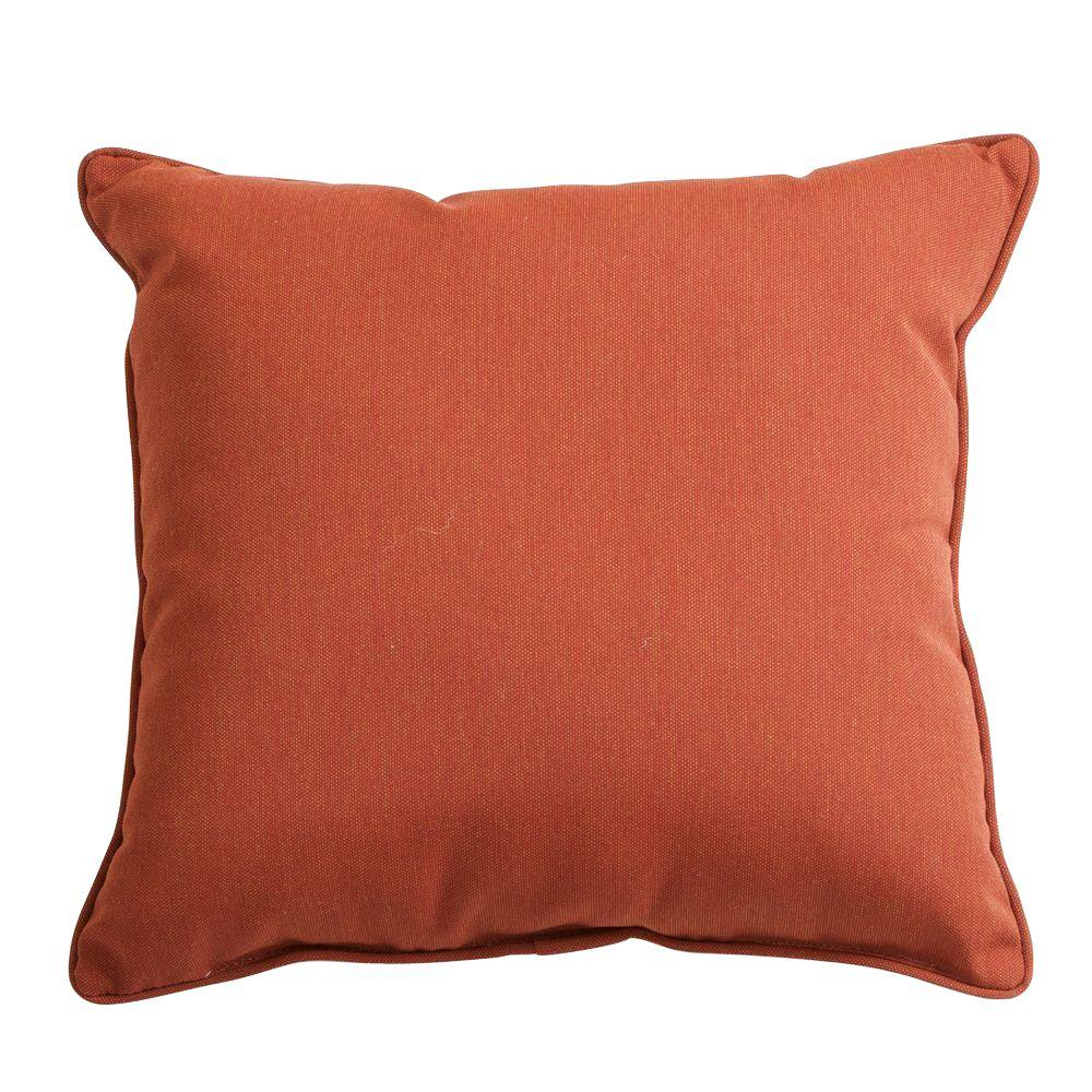 RST Brands Brick 17 in. x 17 in. Outdoor Throw Pillow