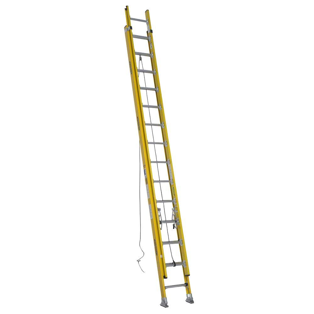 Werner 28 ft. Fiberglass D-Rung Extension Ladder with 375 lb. Load Capacity Type IAA Duty Rating