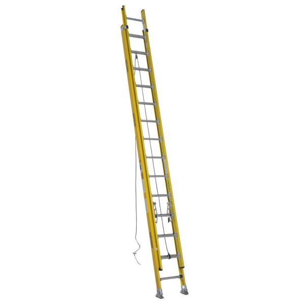 28 ft. Fiberglass D-Rung Extension Ladder with 375 lb. Load Capacity Type IAA Duty Rating