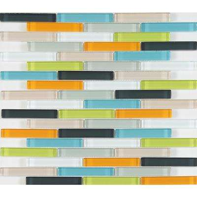 CHENX 11.81 in. x 13.58 in. x 6 mm Glass Backsplash in Multi-Colors (12.42 sq. ft./Case)