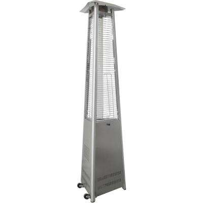 7 ft. 42,000 BTU Stainless Steel Triangle Propane Patio Heater