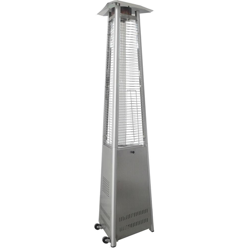 7 ft. 42,000 BTU Stainless Steel Triangle Propane Patio Heater