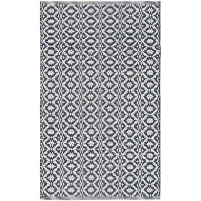 Montauk Ivory/Navy 2 ft. 3 in. x 3 ft. 9 in. Area Rug