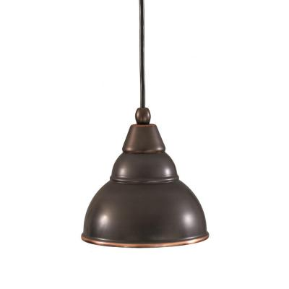 Concord 1-Light Black Copper Halogen Pendant