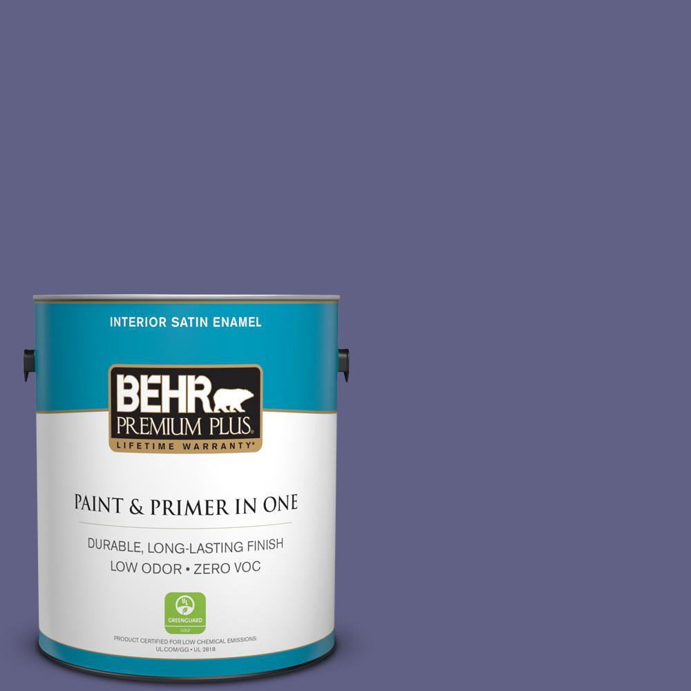 1-gal. #640D-7 Pharaoh Purple Zero VOC Satin Enamel Interior Paint