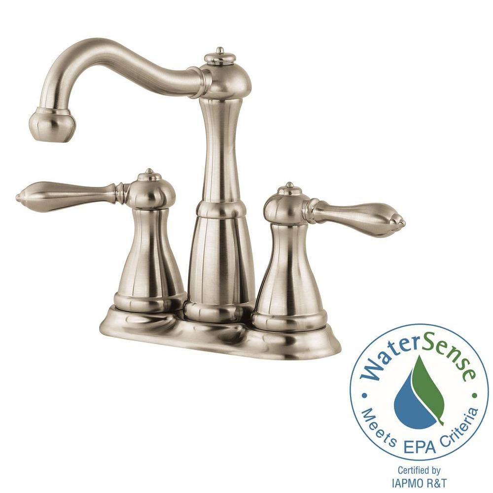 Pfister Marielle 4 In Minispread 2 Handle Bathroom Faucet In Brushed Nickel Lg46 M0bk The