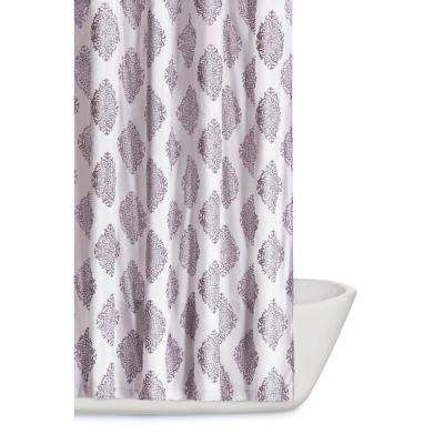 Annika 72 in. Orchid Shower Curtain