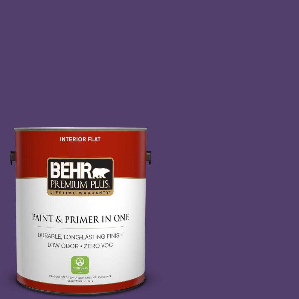 BEHR Premium Plus 1-gal. #P570-7 Proper Purple Flat Interior Paint