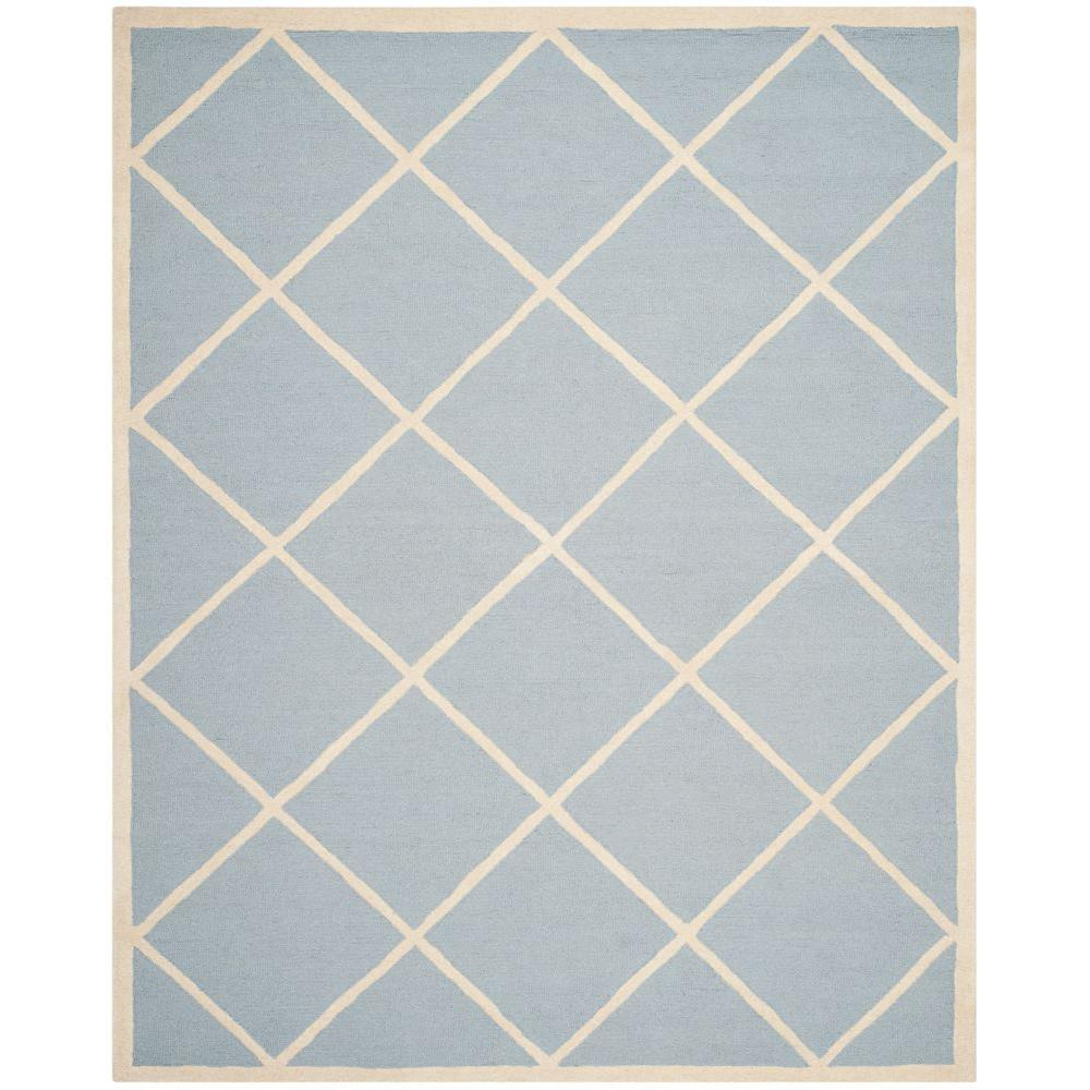 Cambridge Light Blue/Ivory 9 ft. x 12 ft. Area Rug