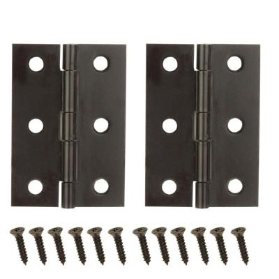 2-1/2 in. x 1-9/16 in. Oil-Rubbed Bronze Middle Hinges