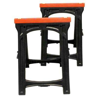 Folding Plastic Sawhorse (2-Piece)