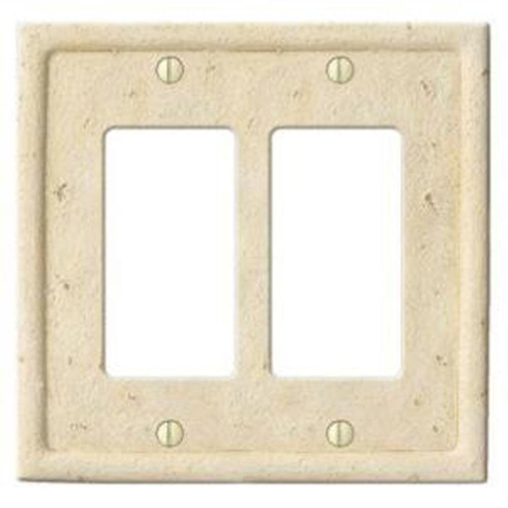 Creative Accents Stone 2 Decorator Wall Plate - Ivory-DISCONTINUED