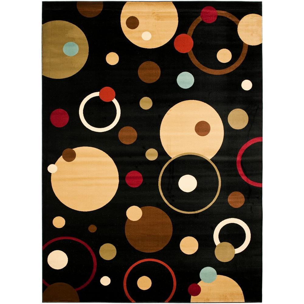 Safavieh Porcello Black/Multi 6 ft. 7 in. x 9 ft. 6 in. Area Rug