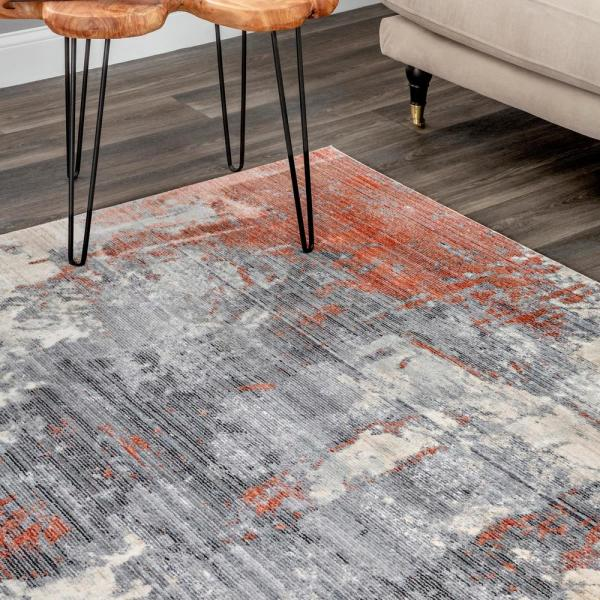 Nuloom Rivera Abstract Orange 7 Ft X 9 Ft Area Rug Mela06a 6709 The Home Depot