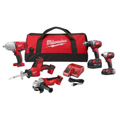 M18 18-Volt Lithium-Ion Cordless Combo Tool Kit (5-Tool) with Two Batteries, Charger, Tool Bag