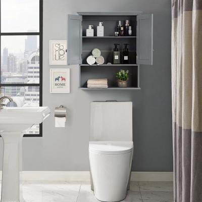 7.9 in. W Wall Mounted Wall-Mounted Bathroom Medicine Cabinet in Gray