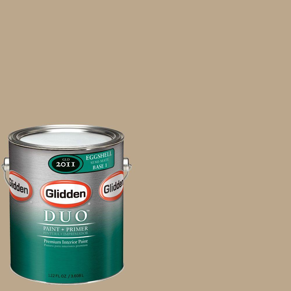 Glidden DUO Martha Stewart Living 1-gal. #MSL204-01F Brown Alpaca Eggshell Interior Paint with Primer-DISCONTINUED