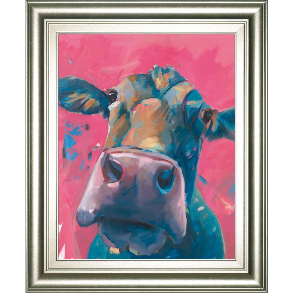 "22 in. x 26 in. ""Pink Lady"" by Pete Hawkins Framed Printed Wall Art"