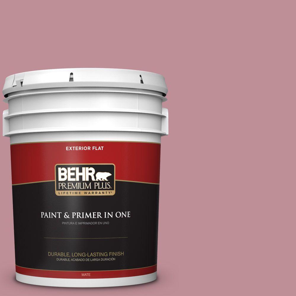 5-gal. #S130-4 Cherry Juice Flat Exterior Paint