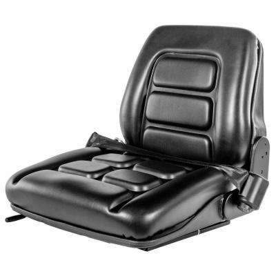 Universal Forklift Leather Seat with Seat Belt and Safety Switch in Black