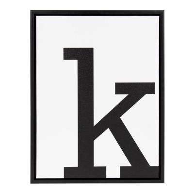 "Sylvie ""Letter K"" Framed Canvas Wall Art"