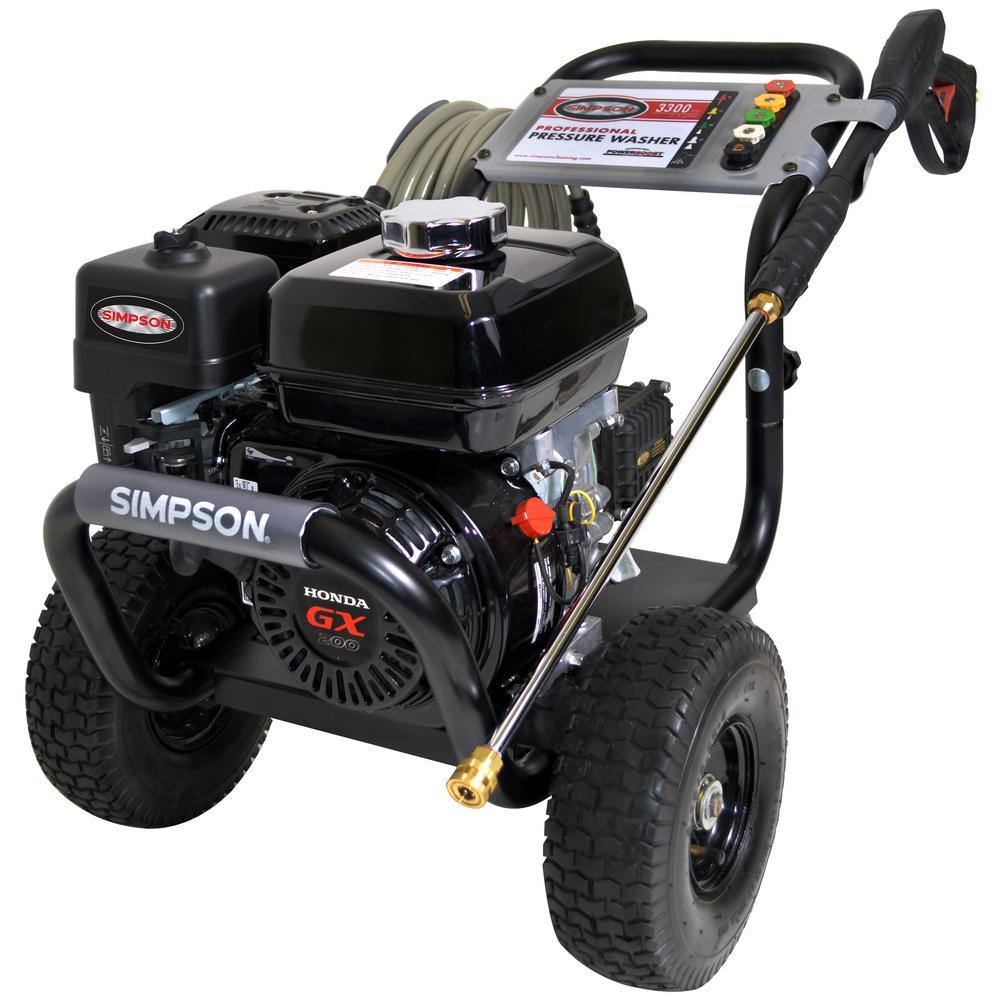 PowerShot 3,300 PSI 2.5 GPM Gas Pressure Washer Powered by Honda