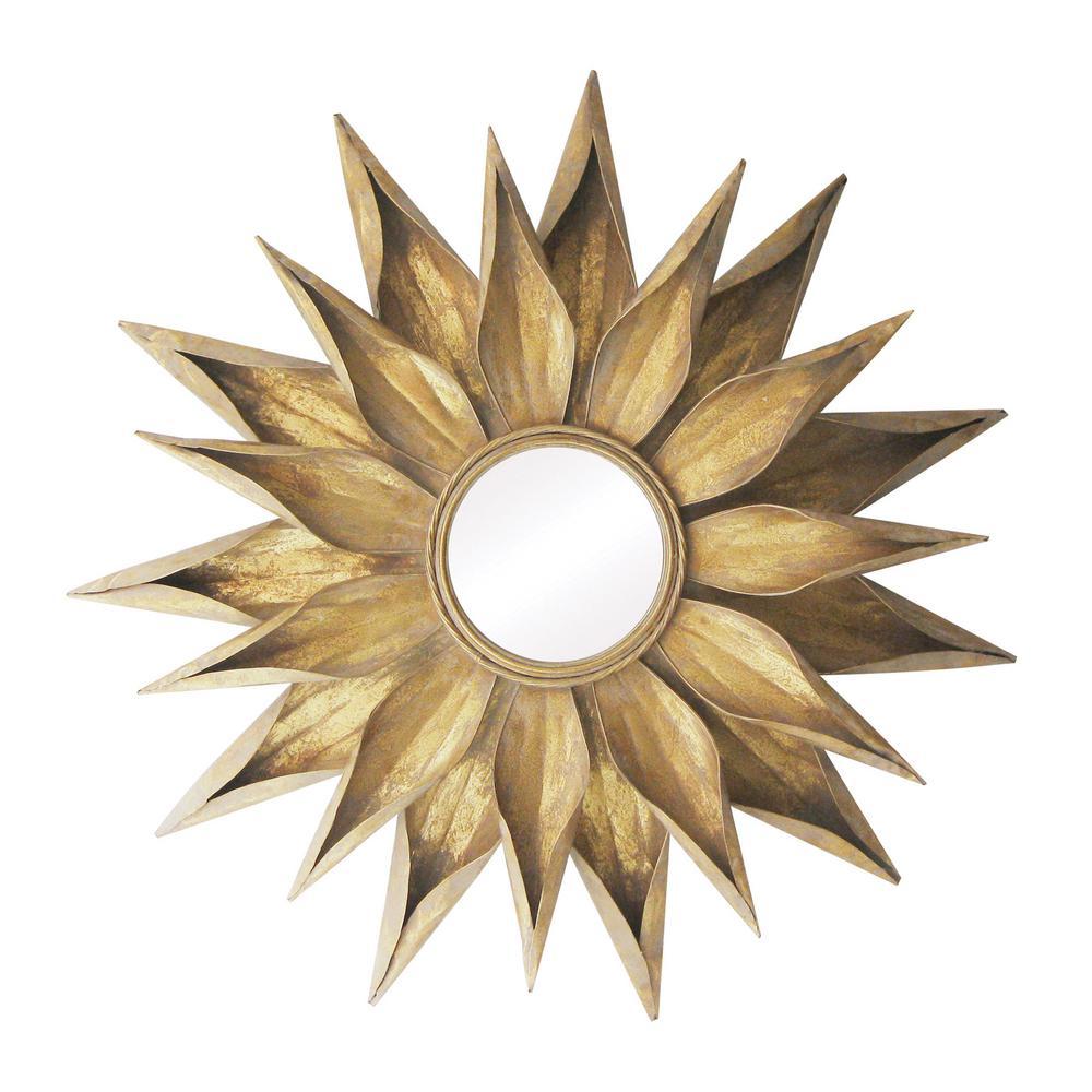 Brackenhead 36 in. Round Cambelside Gold Framed Mirror