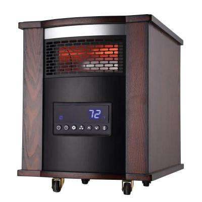 1500-Watt 6-Element Infrared Electric Portable Heater with Remote Control