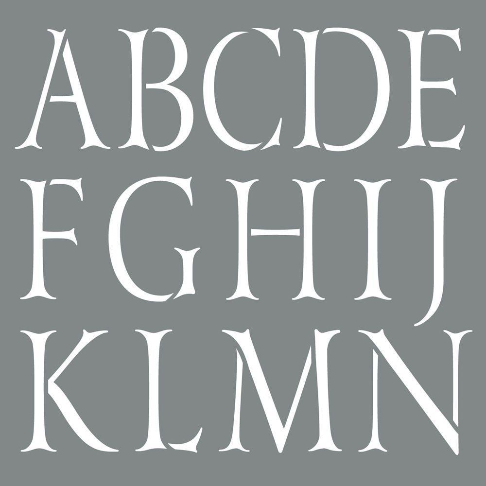 Americana Decor 10 in. x 10 in. Classic Alphabet Stencil
