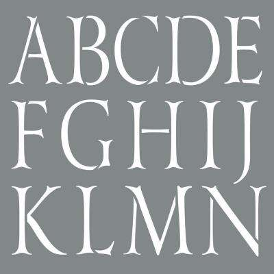 Americana Decor 10 in. x 10 in. Classic Alphabet Stencil
