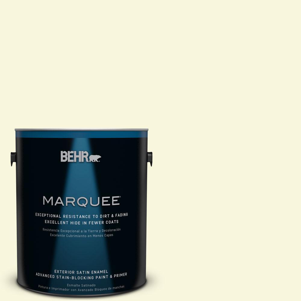 BEHR MARQUEE 1-gal. #W-B-420 White Hydrangea Satin Enamel Exterior Paint